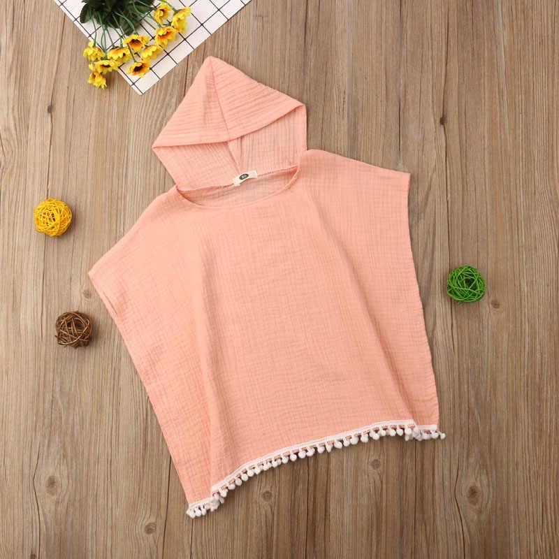 Pudcoco US Stock moda maluch dzieci dziewczynka Boho długa sukienka kardigan Cape okrycie plażowe Up bluza z kapturem bluzka