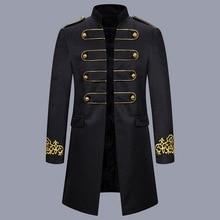 HEFLASHOR, gabardina militar para hombre con estrellas, prendas de vestir, abrigo Vintage, chaqueta de renacimiento medieval, disfraz Cosplay
