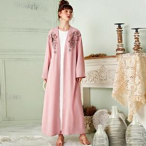 Open Abaya Dubai Turkey Muslim Fashion Hijab Dress Kimono Jilbab Islamic Clothing Ramadan Women De Moda Musulman Djellaba Femme