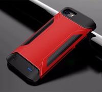 Etui z funkcją ładowania baterii dla iPhone 6 6s Ultra Slim odporny na wstrząsy etui na powerbank dla iPhone 7 8 tworzenia kopii zapasowych sportowe na świeżym powietrzu etui z ładowarką|Etui z funkcją ładowania baterii|Telefony komórkowe i telekomunikacja -