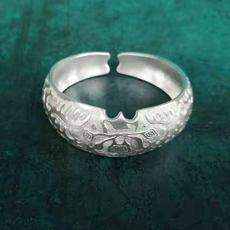 Bastiee 9999 Sterling Silver Hmong Bangles For Women Luxury Jewelry Vintage Ethnic Handmade Big Bangle Adjustable Miao Silver