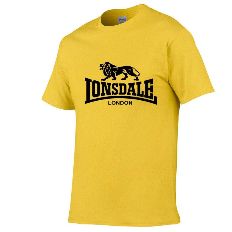 2020 New Men Women LONSDALE T Shirt Casual Harajuku T-shirt Summer Short Sleeve Tshirt Yellow Hip Hop Oversized T Shirts Top Tee
