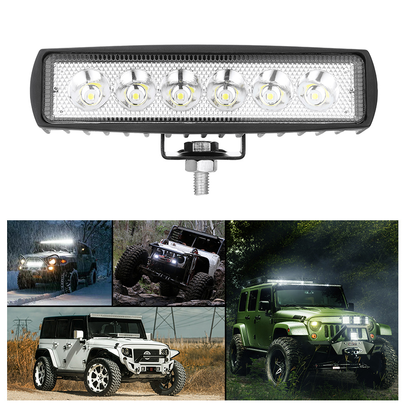 Car-Led-Work-Light Led-Bar Flood 12-Volt Off-Road Car-Trucks 4WD DRL Spot for Vehicle title=