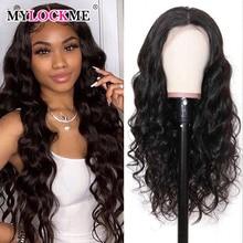 Peruca lace front ondulada, cabelo humano brasileiro, cor natural, remy, 180% e 150% densidade, para mulheres