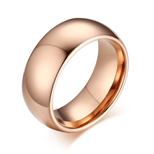цена 2020 New Tungsten Gold Jewelry Tungsten Steel Ring Fashion Rose Gold Ring Europe and America онлайн в 2017 году