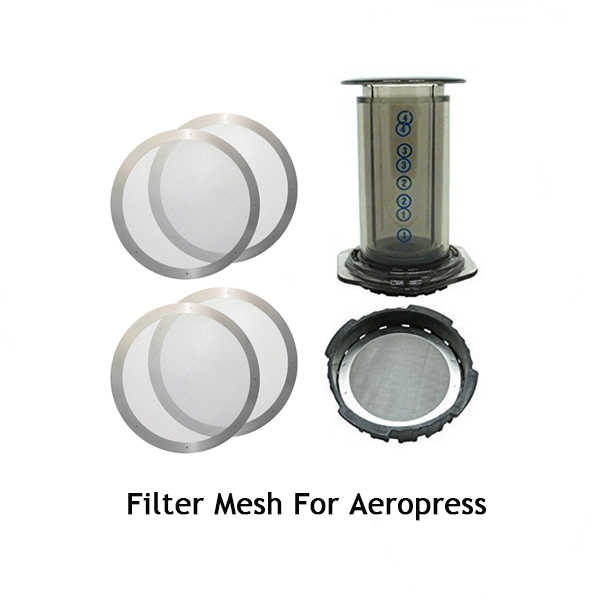 4PCS Coffee Metal Filter Reusable Stainless Steel Filter Mesh For Aeropress Coffee Maker 61MM Kitchen Accessories