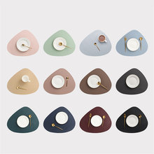 Place Mat Tableware Pad Table Mat Heat Insulation PU Leather Placemats Bowl Coaster Kitchen Non-Slip Washable Bowl Coaster