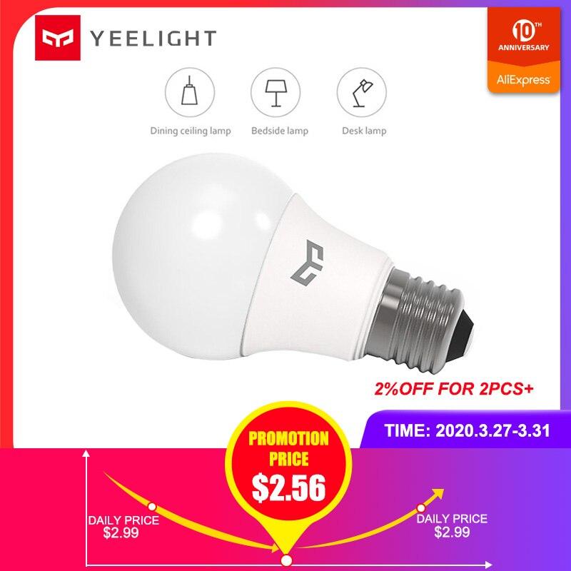 YEELIGHT E27 LED Bulb 220-240V 5W/7W/9W 6500K For Ceiling /Table Lamp/ Lamp 120 Degree LED Lamp Eye-Protection 25000H Lifespan