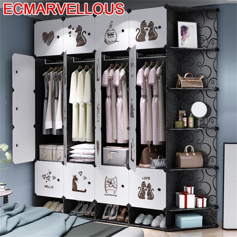 Gabinete Almacenamiento Mobili Per La Casa Ropero Armario font b Closet b font Bedroom Furniture Cabinet