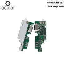 Ocolor para oukitel k12 usb placa de carga montagem peças reparo para oukitel k12 usb placa acessórios do telefone móvel