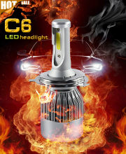 2pcs XENPLUS Super bright Led bulbs H7 110W 13200lm 12V C C6 LED headlights H4 H11 D2S HB3 HB4 9004 9007 H13 lamp(China)