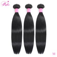 FABC Hair brazilian hair weave bundles straight non remy human hair extensions natural black 3 pieces/ lot free shipping