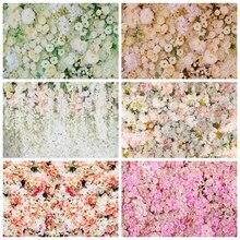 Yeele düğün perdesi töreni beyaz gül çiçek duvar fotoğraf arka planında özelleştirilmiş fotoğraf fotoğraf stüdyosu için arka planlar
