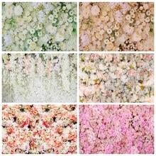 Yeele mariage rideau cérémonie blanc Rose fleur mur photographie décors arrière plans photographiques personnalisés pour Studio Photo