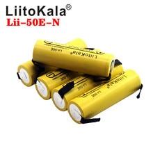 Liitokala Lii 50E imr 21700 5000mah 3.7v 40a alta capacidade protegido superior plano recarregável li ion bateria + diy nicke
