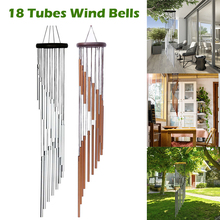 18 Tubes Wind Chimes Bells Handmade Ornament Garden Patio Outdoor Hanging Decor Drop shipping
