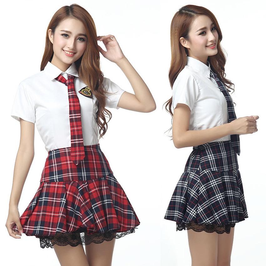 Korean Fashion Student Girls School Uniform Set Japanese Style JK Suit Short Plaid Skirt Sailor Cosplay Costumes Sexy Clothing