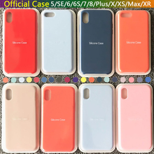 Luxury Original Official Silicone Case For iPhone