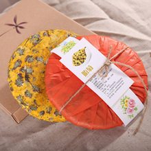 цена на 200g China Yunnan Specialty Chrysanthemum Flower Cake Flower Tea Green Food for Health Care Lose Weight