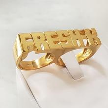 Кольцо с именем на заказ от KristenCo, Золотое кольцо в стиле хип-хоп, женское модное кольцо с надписью в стиле панк, подарок