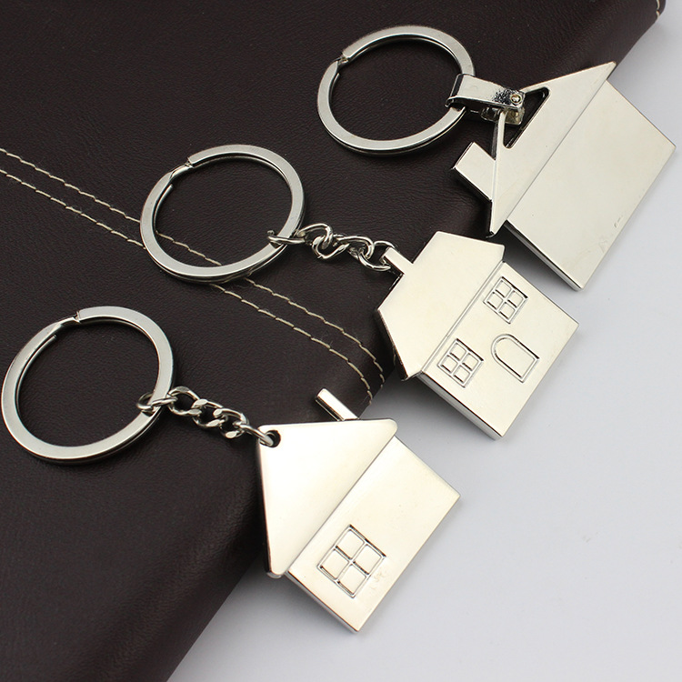House Key Chain Hut Small Gift Key Pendant New Real Estate Opening Gift Wholesale Can Be Laser Lettering K1523