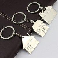 Haus schlüssel kette hütte kleines geschenk schlüssel anhänger Neue immobilien eröffnung geschenk großhandel kann laser schriftzug K1523
