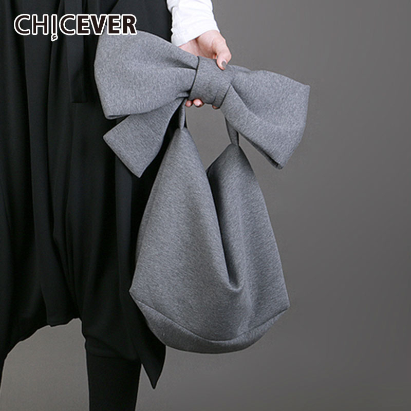 CHICEVER korean solid patchwork bowknot Women's bag Oversized Loose big Clothing accessories Female bags 2020 Fashion New