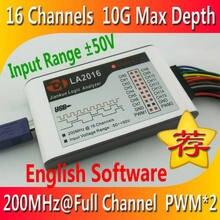 Kingst LA2016 USB логический анализатор 200M Максимальная скорость выборки, 16 каналов, 10B образцы, MCU,ARM, инструмент отладки FPGA, английское программное ...