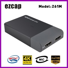 Ezcap 261M USB 3.0 HD Video acquisizione 4K 1080P gioco Streaming Live Video Converter supporto 4K ingresso Video MIC per XBOX un PS4