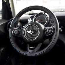 Car Interior Carbon Fiber Steering Wheel Sticker Covers Decoration for Mini Cooper F55 F56 F60 JCW Accessories Styling 57BA(China)