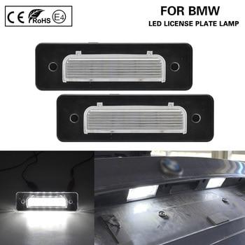 цена на 2x Error Free White LED Number License Plate lights Lamp Car Accessories for BMW E30 E12 E28 E24 E23 E26 Z1