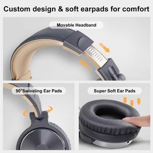Image 3 - Oneodio auriculares estéreo con control por cable, para estudio de mezcla de graves, por encima de la oreja, plegables y cerradas, para DJ, teléfono y PC