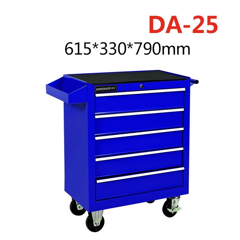 Инструменты Дисплей Стенд ручной тележки ящик для инструментов ремонт автомобиля запчасти авто аксессуары стенд рамка подвижные колеса автомобиля СЕРВИС ИНСТРУМЕНТ - Цвет: DA-25 blue