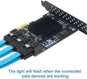 Image 3 - 6/4 Port SATA III PCIe Card, PCIe SATA III Controller Card To 6GB/s Internal Adapter Converter PCI SATA 3.0 Expansion Card