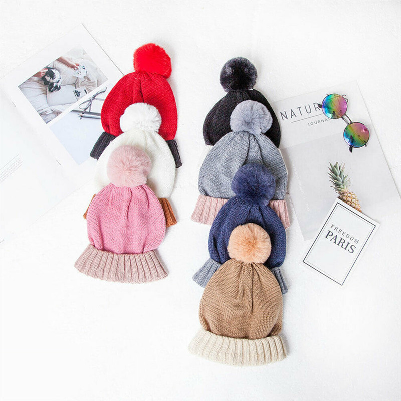 2pcs Hat&Scarf Set New Fashion Toddler Kids Winter Warm Knitted Wool Caps Beanie Skullies Scarf Baby Boy Girl Accessories Gifts