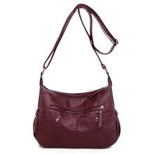 LONOOLISA Multi-pocket Crossbody Bags for Women High Quality Soft PU Leather Women Shoulder Bags Causal Ladies Bag Bolso mujer