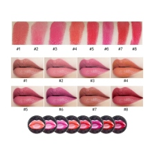 8 colors Velvet Moisturizing Lipstick Light Misty With Lip Brush Lasting Lips Makeup