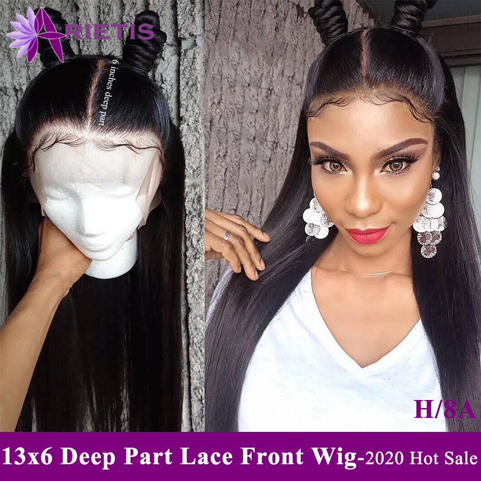 Arietis Remy Hair Wig 13x6 Deep Part Straight Human Hair Wigs With Baby Hair Wholesale Peruvian 2020 New Fashion Hairstyle