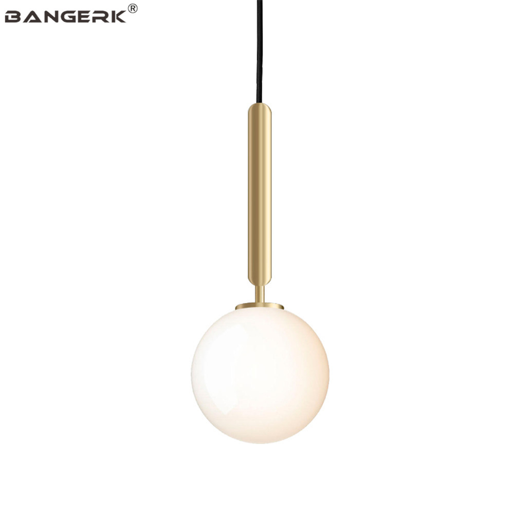 Nordic Design Loft Decor LED Pendant Light Iron Modern Glass Ball Hanging Lamp Home Lighting Fixtures Indoor Art Droplight