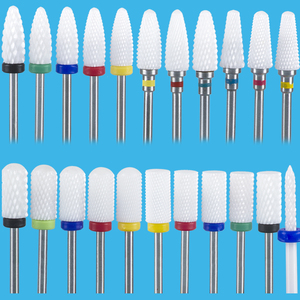 Image 3 - חותך עבור מניקור קרמיקה מקדחי ציפורניים מניקור מכונת אביזרי רוטרי חשמלי נייל קבצי ציפורניים מניקור אמנות כלי Feecy