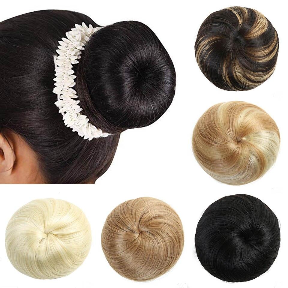 Lupu Elastic Hair Bun Donut Roll Chignon Wig Synthetic Hair Accessories Hair Extension Women Ponytail Extension Hair Run