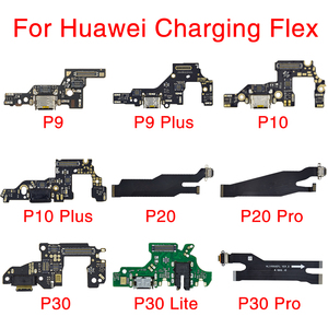 Image 1 - 10pcs/lot USB Charger Charging Port Connector Data Flex Cable For Huawei P9 P10 P20 P30 Lite Pro With Headphone Audio Jack