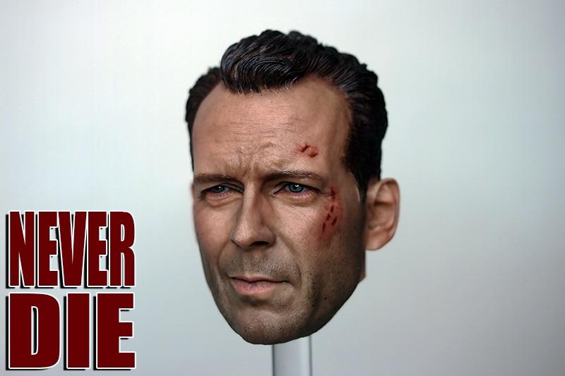 """Custom 1//6 Die Hard Bruce Willis HeadSculpt fit 12/"""" Male figure body"""