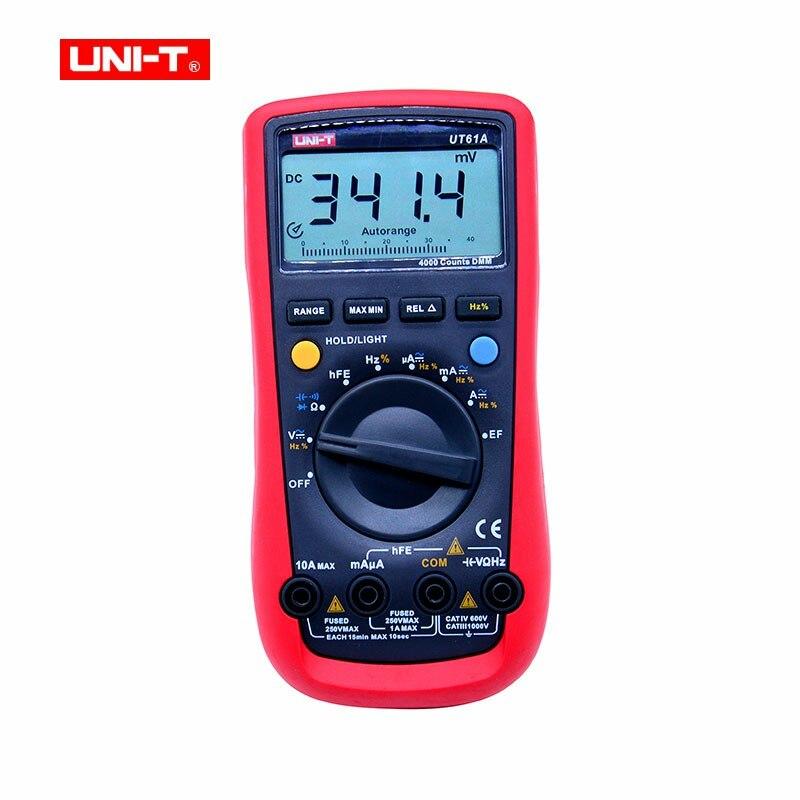 UT61A Digital Multimeter  Professional Electrical Handheld Tester CD Backlight