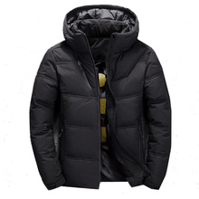 FOJAGANTO Fashion Brand Men Solid Down Jacket Winter New Men
