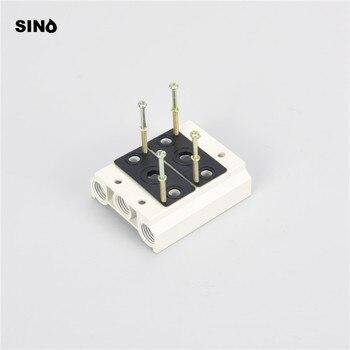 Base de válvula solenoide 4V210 200M-1F 200M-2F 200M-3F/4F/5F/Bloque de válvula 4V110 base de válvula solenoide 100M-2F/3F/4F/5F/6F/
