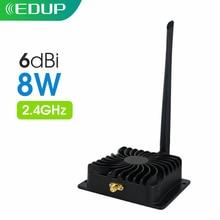 EDUP 2.4GHz 8W Wifi wzmacniacz mocy 5GHz 5W wzmacniacz sygnału Wifi bezprzewodowy wzmacniacz zasięgu dla WI FI Router akcesoria antena