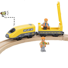High Speed Subway Electric Train Toy Sets with Sound Fit for Wooden Railway Tracks Boys Toys Birthday Gift electric train toys magnetic electric train high speed rail compatible with thomas train tracks and all kinds of wooden railway