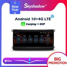 """Carplay 8 8 #8222 IPS Android 10 0 32GB 64GB samochodowy odtwarzacz DVD odtwarzacz GPS mapa WIFI Bluetooth RDS Radio dla Porsche Cayenne 2003- 2008 2009 2010 tanie tanio SKYSHADOW CN (pochodzenie) Double Din 8 8"""" 4*45W System operacyjny Android 10 0 Dvd-r rw Dvd-ram Video cd Jpeg Plastic Steel"""