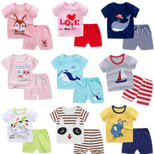 Baby T-Shirts Kids Tops Summer Children's Clothing Short Sleeve Tops + Pants Kids Clothes Boy and Girl Outfits Fashion Clothes